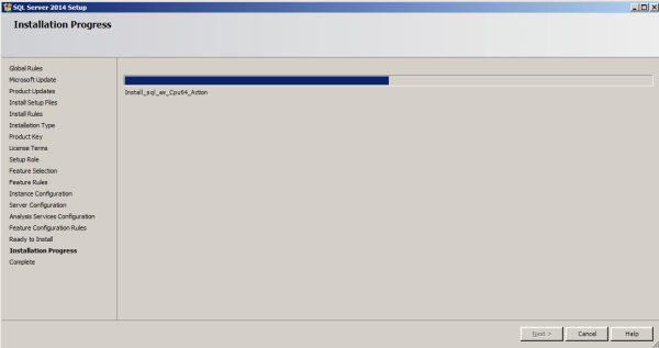 installing tabular model step 13