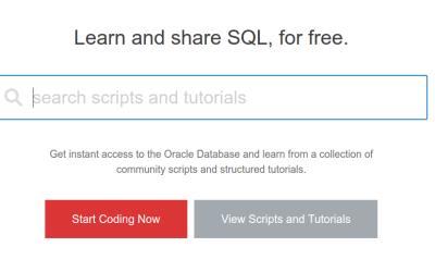 לתרגל SQL אונליין ובחינם – Oracle Live SQL
