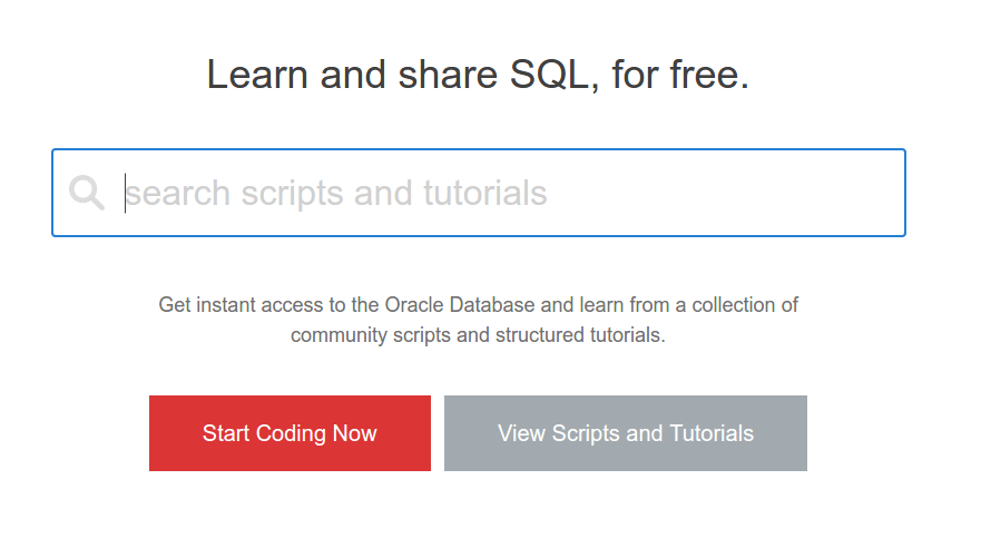 Practice SQL Online and Free – Oracle Live SQL
