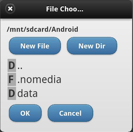 File Chooser Dialog for PhoneGap Applications