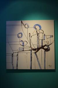 Abstract NN - Blue by Ramona Romanu