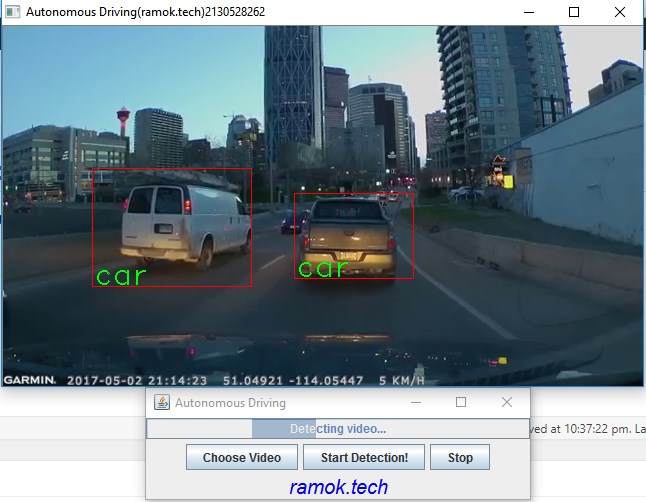 Java Autonomous driving – Car detection – ramok tech