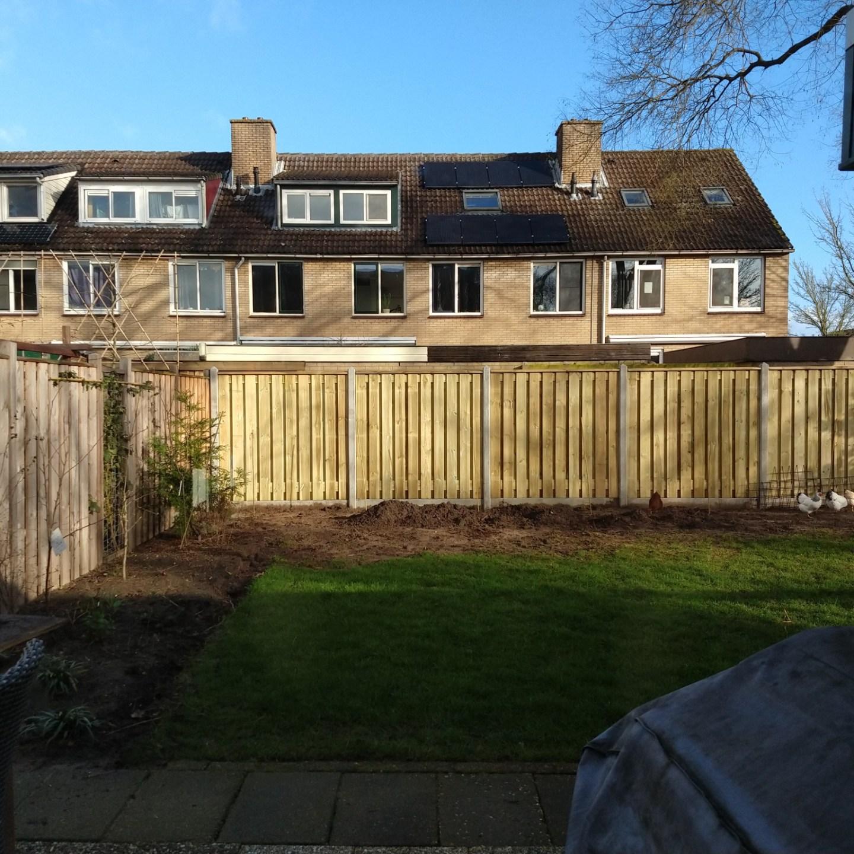 In de tuin | Nieuwe schutting