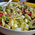 Lekker eten   Zomerse salade met ei & pancetta