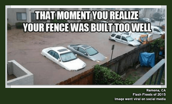 Your fence is built too well