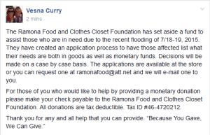 Ramona Food & Clothes Closet Foundation