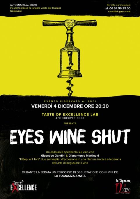 Eyes Wine Shut-Taste of Excellence Lab-officina Gourmet -La Tognaza al Douze-Gianmarco Tognazzi