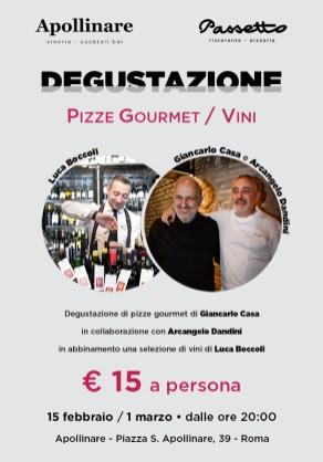 Pizze Gourmet 15 febbraio e 1 marzo _ Locandina