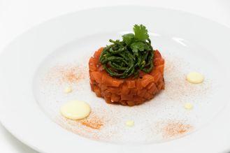 Battuto salmone marinato-salicornia(2)
