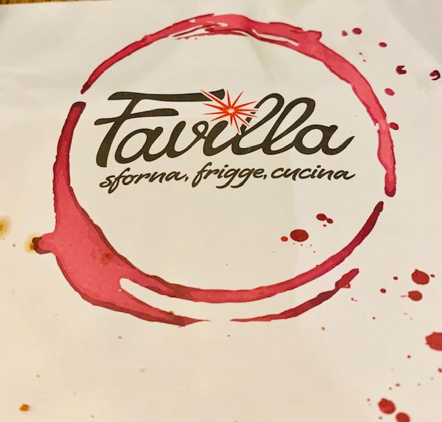 Il logo della pizzaria Favilla a Roma