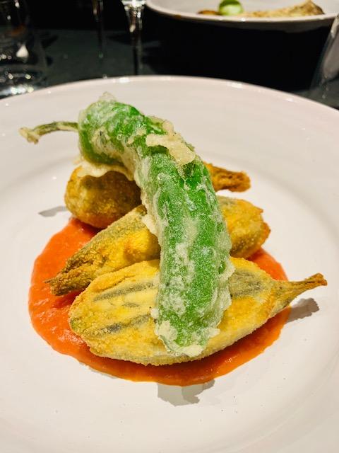 fritto alici imbottite scarola olive friggitelli in pastella
