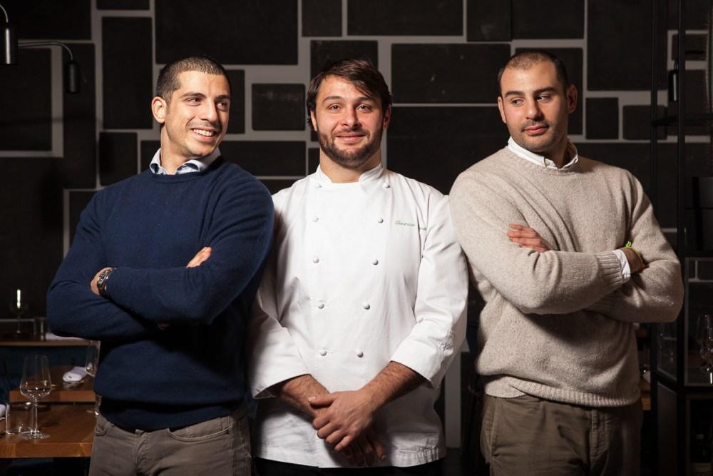i tre soci del ristorante Almatò a Roma
