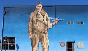 Ramona Murals Lucky Spirit Charles Lindbergh