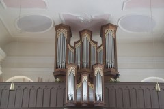 Blick auf die Hauser-Orgel mitsamt ihrem Rückpositiv. Foto: Ramona Schittenhelm