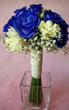 Ramo de novia bouquet de rosa azul y Fressia