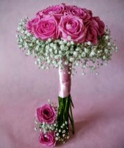 Ramo de novia rosas y paniculata