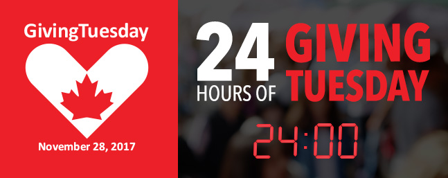 24 HOURS OF GIVING TUESDAY