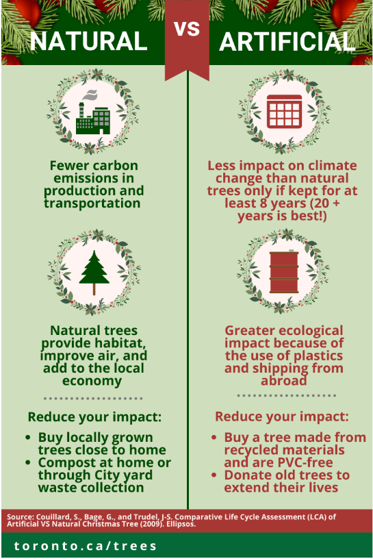 Sustainable holiday tree natural or artificial, pros and cons.