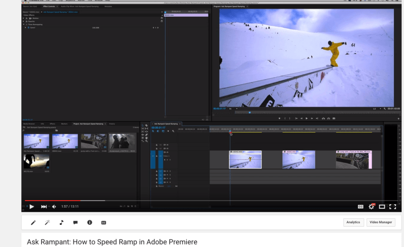 How to Speed Ramp in Adobe Premiere