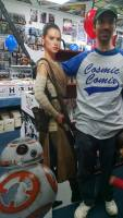 Posing with Rey