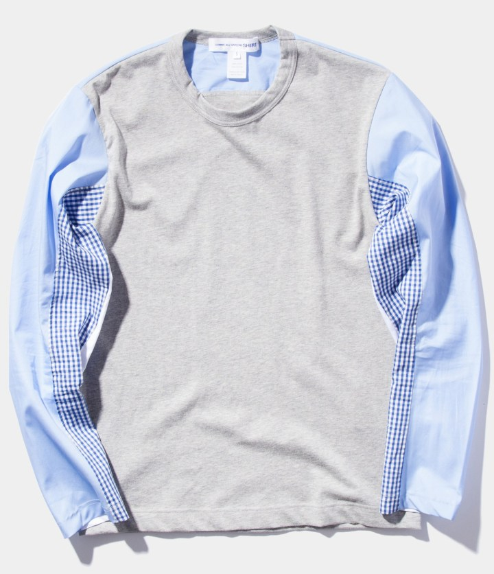 CDG_SHIRT_Micro_Gingham_Poplin_Long_Sleeve_Shirt
