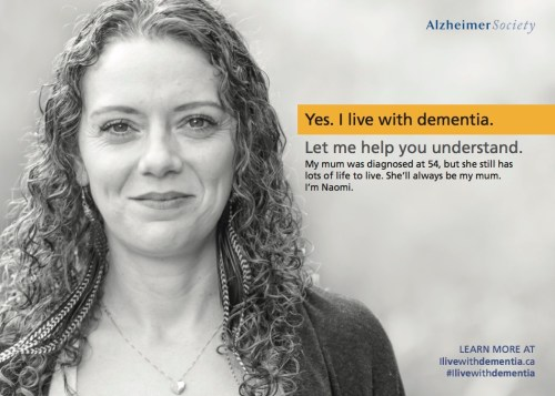 Photo of Naomi - Yes. I live with dementia. Let me help you understand.