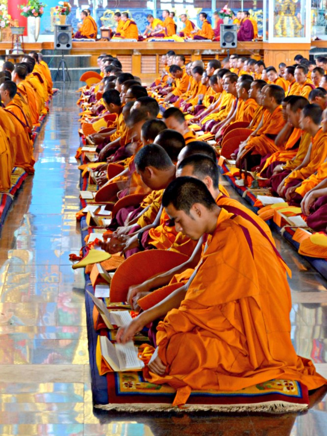 Buddhist Students at a Tibetan Monastery