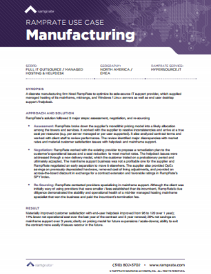 RampRate Use Case - Manufacturing