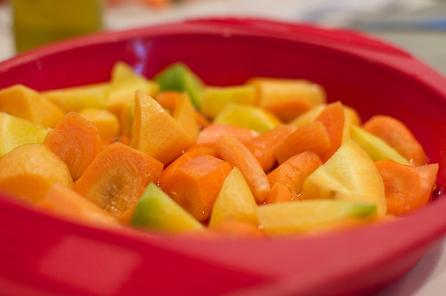 micro steam carrots