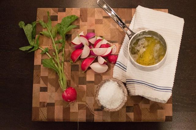 radish and bagna cauda