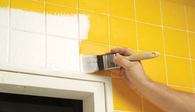 can i paint ceramic tiles in bathroom