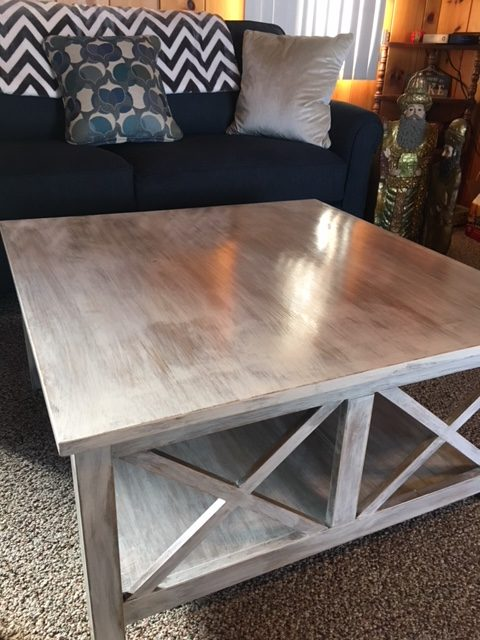 a whitewash coffee table how to step by