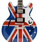 One of the guitars Noel Gallagher went diddle iddle ee with.