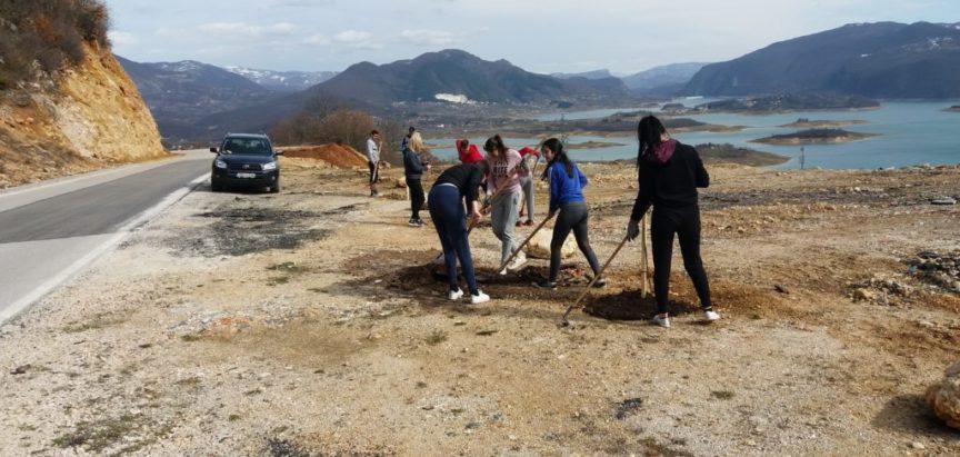 """Foto: Ekološka udruga """"Izvor""""u suradnji s Framom Ruboci zasadili drveće i uredili Vidikovac na Izlazu"""