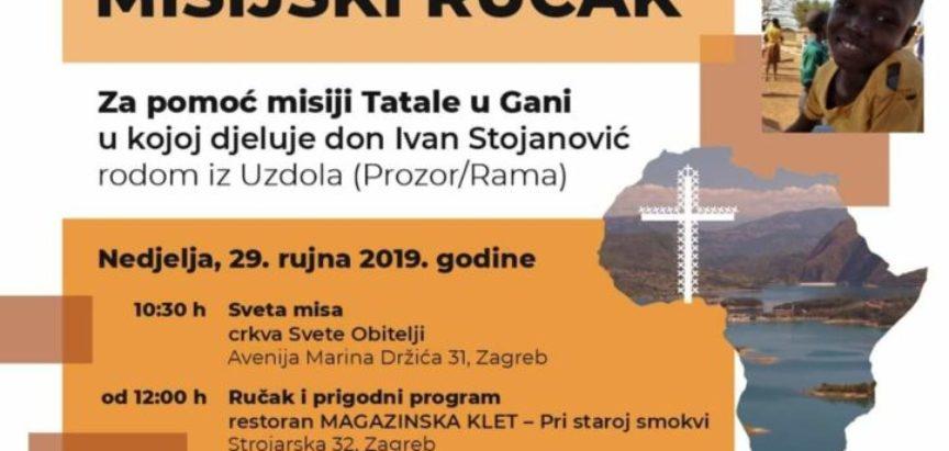 Najava: Dobrotvorni misijski ručak za potporu misionaru don Ivanu Stojanoviću