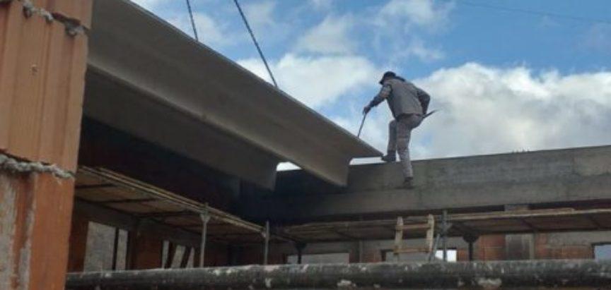 Foto/video: Na Gračacu radovi na dvorani napreduju planiranom dinamikom