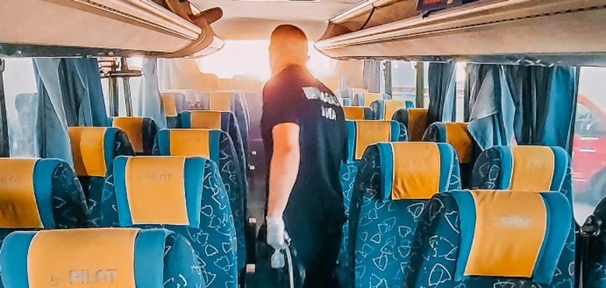 """Redovna dezinfekcija radnih prostorija i voznih jedinica """"Javnog prijevoza"""" u Prozor-Rami"""