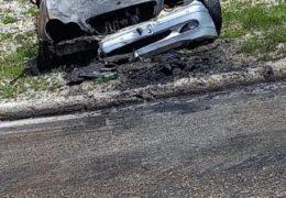 Na Velikoj krivini na Makljenu se zapalilo vozilo u vožnji