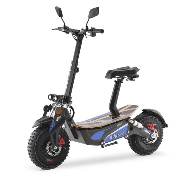 Ev Ultra Electric Scooter View 4 Blue Decal