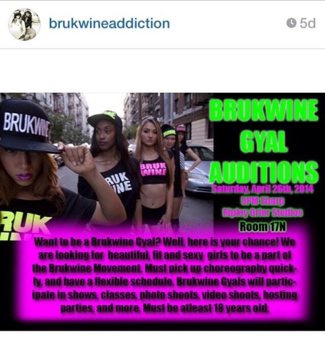 brukwine-auditions