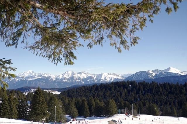 ski vinter alpene