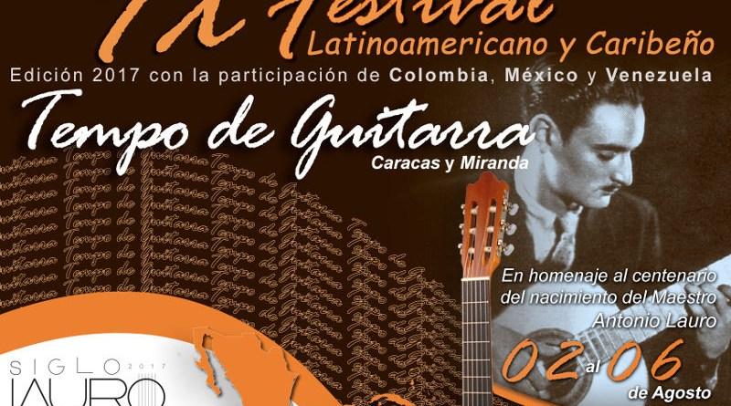 Festival Tempo de Guitarra rendirá homenaje al maestro Antonio Lauro del 04 al 06 de agosto