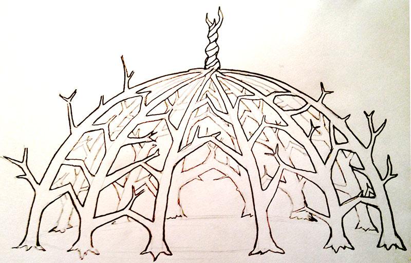 Living Dome Concept Sketch