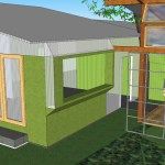 Eco House with Trellis for Shade