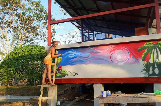 Nicole Painting Mural - 1200px