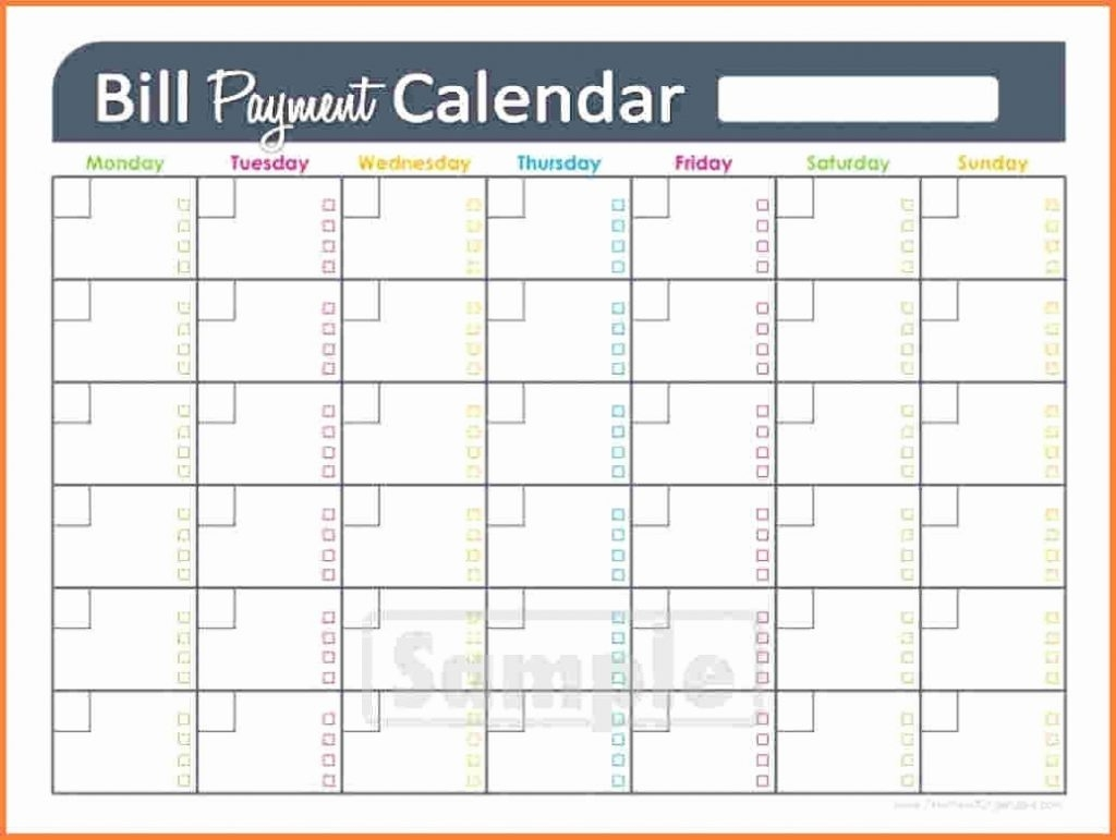 Printable Monthly Bill Paying Worksheet Template
