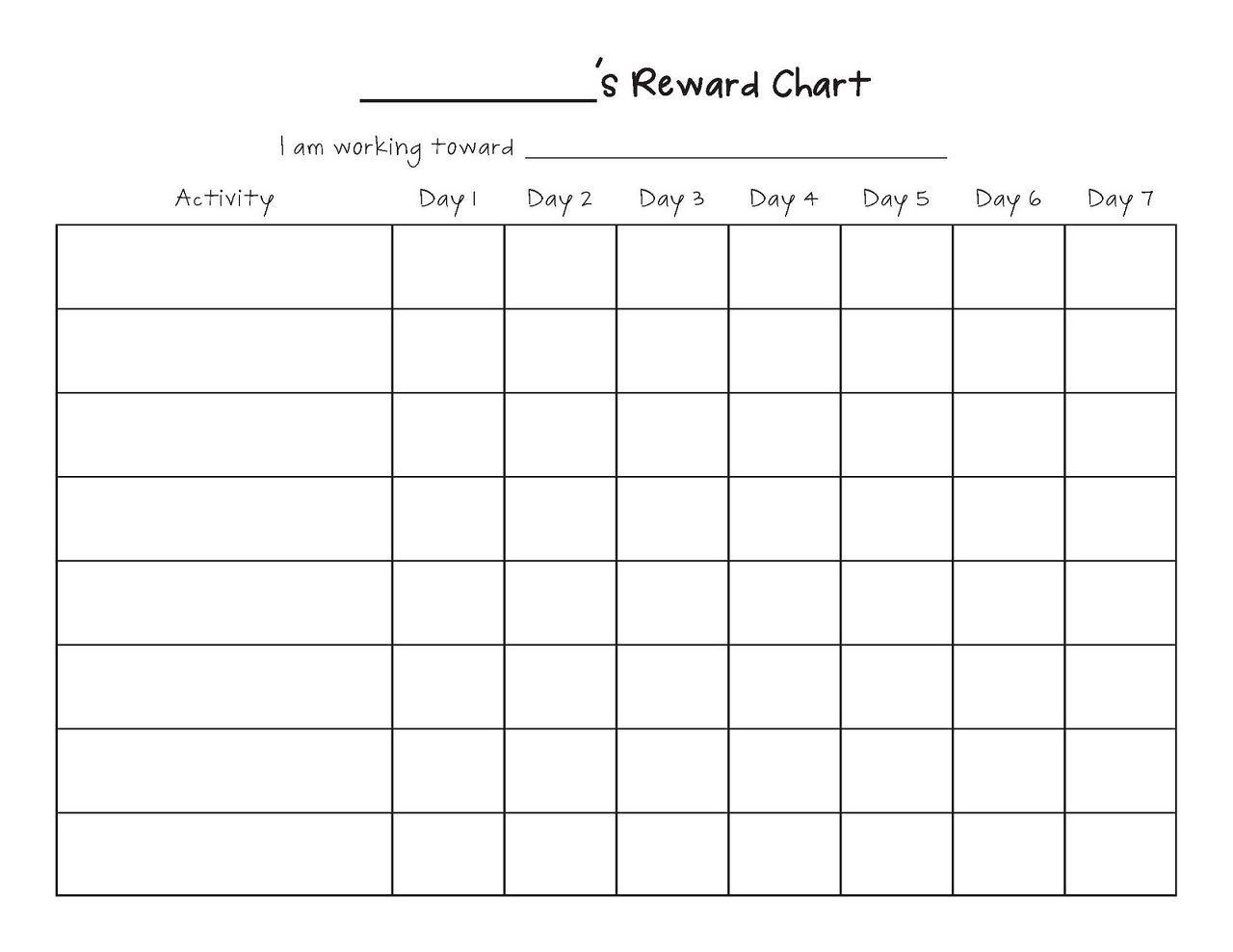 Monthly Behavior Chart Paper Printout Template Calendar