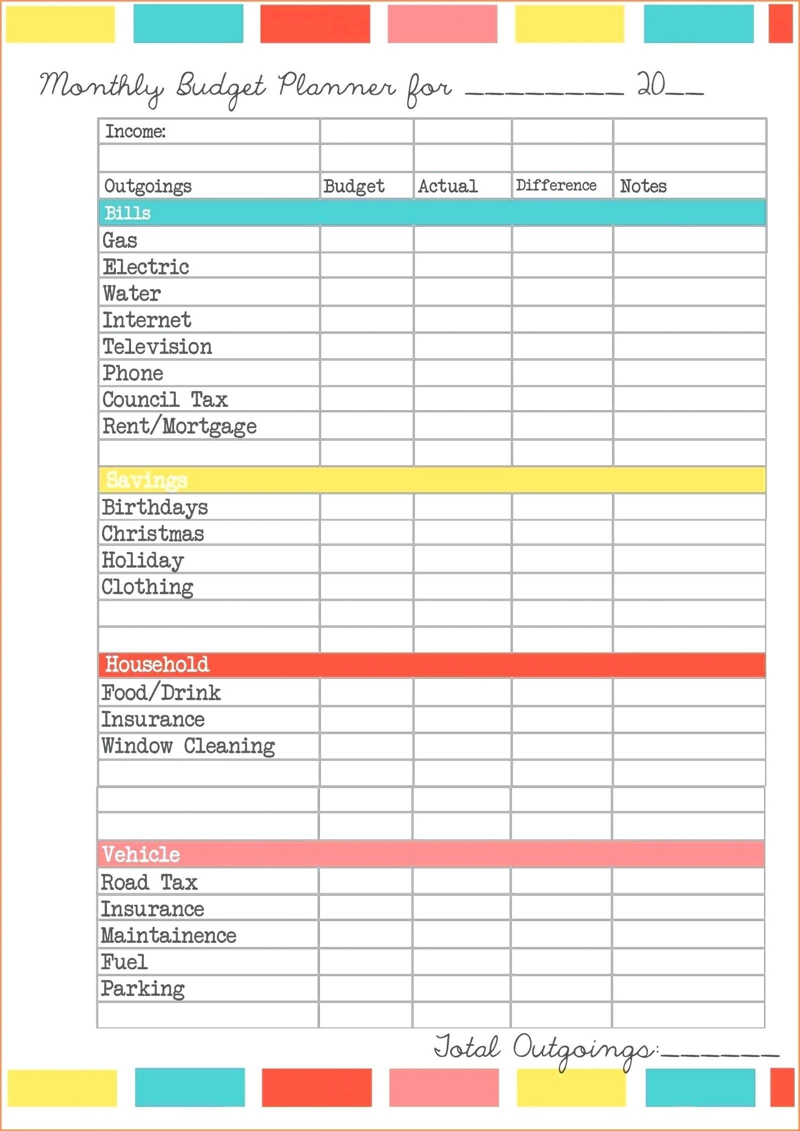 Bill Worksheet Template Template Calendar Design