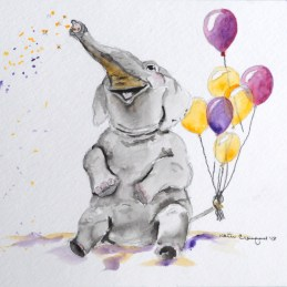 happy elephant
