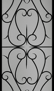 Arabia Wrought Iron Door Insert